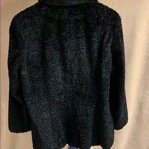 Style & Co Jackets & Coats - Black crushed velvet dress coat